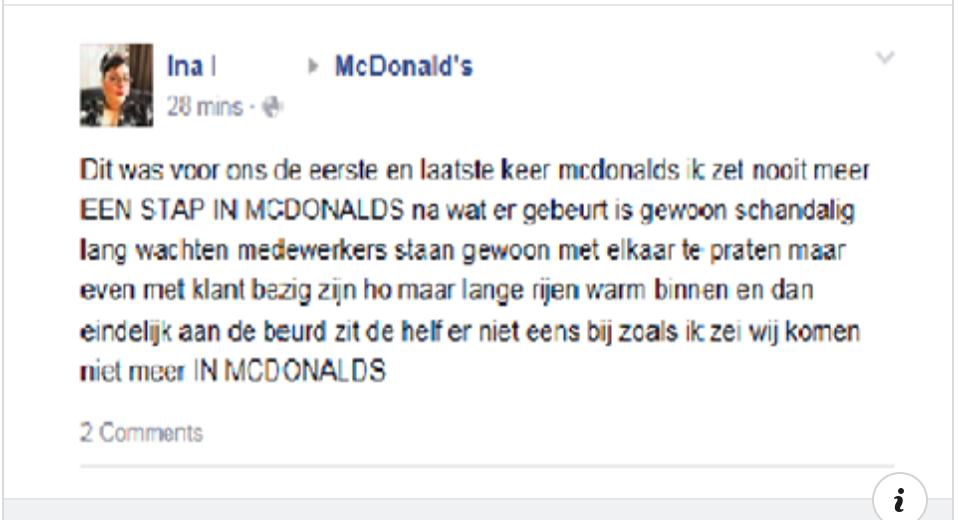 Woeste Ina met de grond gelijkt gemaakt door McDonalds na deze klacht!